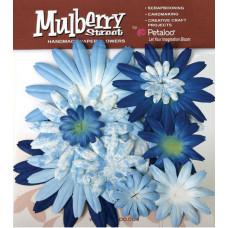 Бумажные цветы Mulberry St. Daisies Large - Tye Dye Blue (1310-005)