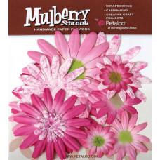 Бумажные цветы Mulberry St. Daisies Large - Tye Dye Fuchsia (1310-017)