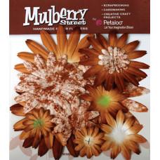 Бумажные цветы Mulberry St. Daisies Large - Tye Dye Mocha (1310-038)