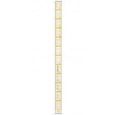 Линейка для квилтинга  - 2.54 х 31,75 - (R1C)