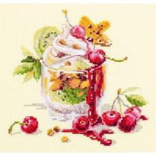 Набор для вышивания крестиком Чудесная игла Вишневый десерт (120-081)