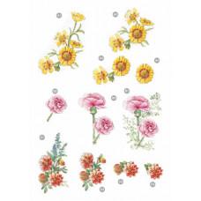 3D карта Классические цветы Гврздики (0124)