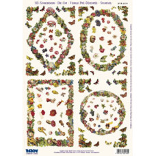 3D карта Цветочные рамки (82164)