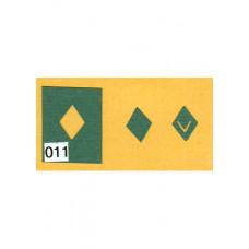 Набор дыроколов для клипсов Ромбик (CP013)
