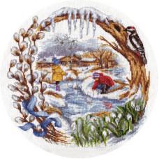 Набор для вышивания крестом Panna Весенний ручеек (Д-1236)
