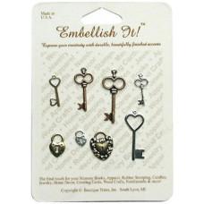 Набор украшений Замочки, ключики (93041)