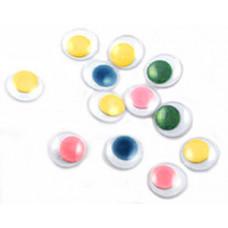 Глазки для игрушек, разноцветные, 7мм (7P.1)