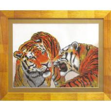 Набор для вышивания крестиком Чарівна мить Тигры (550)