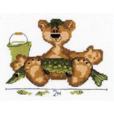 Набор для вышивания крестом Риолис День рыбака (П-089)