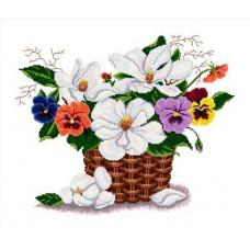 Набор для вышивания крестиком Сделано с любовью Цветочная фантазия (ЦВ-022)