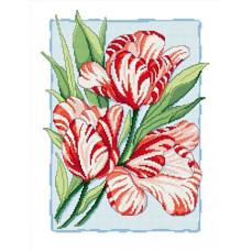 Набор для вышивания крестиком Сделано с любовью Пёстрые тюльпаны (ЦВ-019)