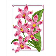 Набор для вышивания крестиком Сделано с любовью Дикая орхидея (ЦВ-018)