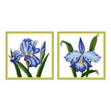Набор для вышивания крестиком Сделано с любовью Ирис и орхидея (ЦВ-009)