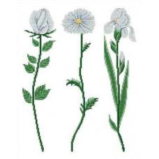 Набор для вышивания крестиком Сделано с любовью Белые цветы (ЦВ-006)