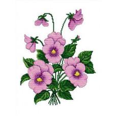 Набор для вышивания крестиком Сделано с любовью Нежные анютки (ЦВ-002)