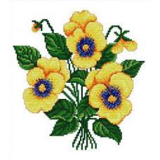 Набор для вышивания крестиком Сделано с любовью Жёлтые анютки (ЦВ-001)