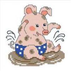 Набор для вышивания крестиком Сделано с любовью Маленький свинтус (УТ-008)