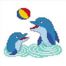 Набор для вышивания крестиком Сделано с любовью Морская игра (УТ-007)