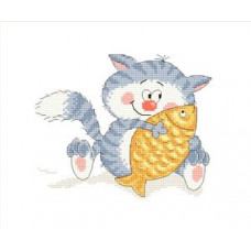 Набор для вышивания крестиком Сделано с любовью Рыбка моя (СК-026)