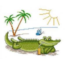Набор для вышивания крестиком Сделано с любовью Я ляжу на пляжу (СК-003)