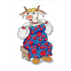 Набор для вышивания крестиком Сделано с любовью Душечка (С-003)