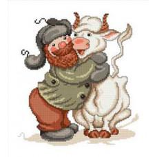 Набор для вышивания крестиком Сделано с любовью Такая корова нужна самому (С-001)