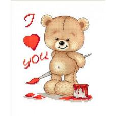 Набор для вышивания крестиком Сделано с любовью I love you (МК-005)