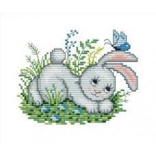 Набор для вышивания крестиком Сделано с любовью Зайчишка Пушишка (ЗВ-003)