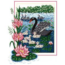 Набор для вышивания крестиком Сделано с любовью Чёрный лебедь (Ж-003)