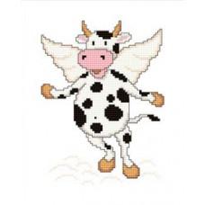 Набор для вышивания крестиком Сделано с любовью Пейте, дети, молоко (ДД-014)