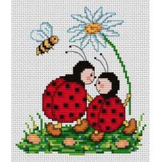 Набор для вышивания крестиком Сделано с любовью Вместе весело шагать (ДД-006)