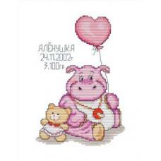 Набор для вышивания крестиком Сделано с любовью Розовый карапузик (ДД-002)