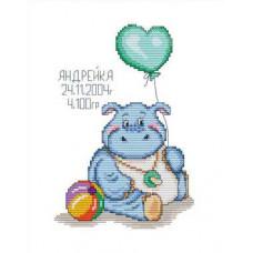 Набор для вышивания крестиком Сделано с любовью Голубой карапузик (ДД-001)