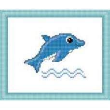 Набор для вышивания крестиком Сделано с любовью Дельфин (М-031)