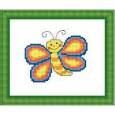 Набор для вышивания крестиком Сделано с любовью Бабочка (М-022)