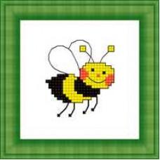 Набор для вышивания крестиком Сделано с любовью Пчелка (М-017)