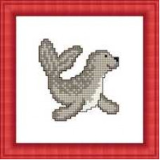 Набор для вышивания крестиком Сделано с любовью Тюлень (М-009)