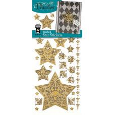 Наклейки блестящие Dazzles Звёзды, золото (1831)