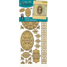 Наклейки блестящие Dazzles Овалы, золото (1833)