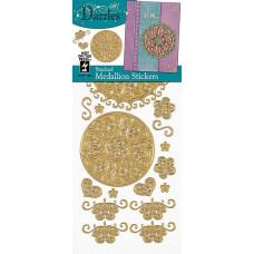 Наклейки блестящие Dazzles Медальон, золото (1861)