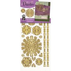 Наклейки блестящие Dazzles Кружевной медальон, золото (1839)