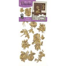 Наклейки блестящие Dazzles Розы, золото (1841)