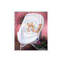 Набор для вышивания крестом Dimensions  Одеяло Пышный мишка (13065)