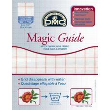 Канва DMC с исчезающей разметкой, белая - Magic Guide (Blanc DC27MG)