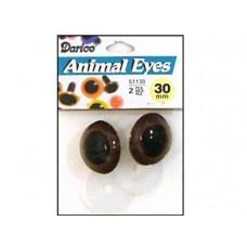 Глазки для игрушек, коричневые, со зрачком 30 мм (51130.7)