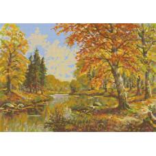 Набор для вышивания крестиком Чудесная игла Золотая осень (45-02)