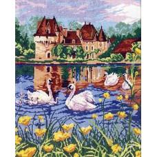 Набор для вышивания крестиком Чудесная игла Лебединое озеро (44-04)