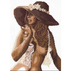 Набор для вышивания крестиком Чудесная игла Девушка в шляпе (68-03)