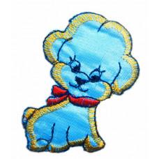 Термоаппликация Голубой щенок