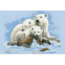 Набор для вышивания крестом Риолис Белые медведи (1033)
